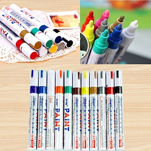 12 colors paint marker pen set fine paint oil based art pen new with box top painting supplies - Best oil based exterior paint collection ...