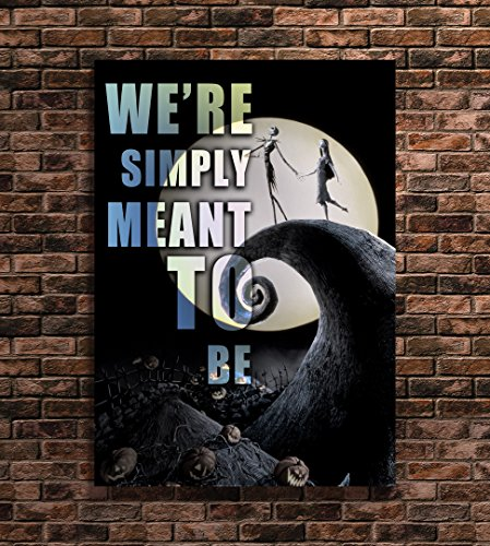 nightmare before christmas print famous quotes art a4 8x12 inches - Quotes From Nightmare Before Christmas