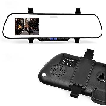 """E-PRANCE Caméra de voiture rétroviseur avec enregistreur DVR Vision arrière Ultra-grand angle 162° G-Sensor Détecteur de mouvement SOS Vision nocturne Prend en charge AV-OUT/HDMI 1920x1080P 2,7"""" Without Blu"""