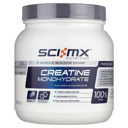Sci-MX Kreatin-Monohydrat (500 g) - Packung mit 6