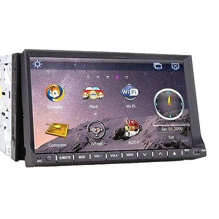 LCD 1 Nueva universelle de coches reproductor de Radio Doble 2 din coche DVD FM / AM jugador de navegaciš®n GPS en el tablero vw PC del coche estšŠreo všªdeo unidad principale d'šŠcran Radio Mapa gratuit