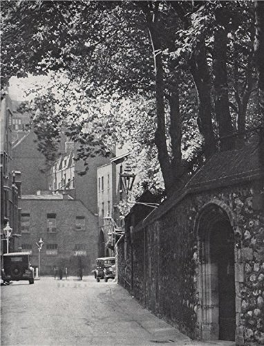 A quiet corner in Westminster, Great College Street. E. O. HOPPÉ. London - 1930 - old print - antique print - vintage print - London art prints