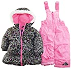 Pink Platinum Baby Girls Infant 2 Piece Snowsuit Cheetah Print Jacket