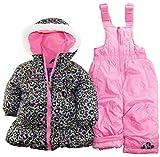 Pink Platinum Baby Girls Infant 2 Piece Snowsuit Cheetah Print Jacket, Black, 18 Months