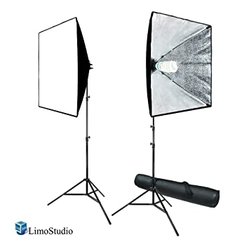 LimoStudio 700W Photography Softbox Light Lighting Kit Photo Equipment Soft Studio Light Softbox 24 X24 , AGG814 at amazon