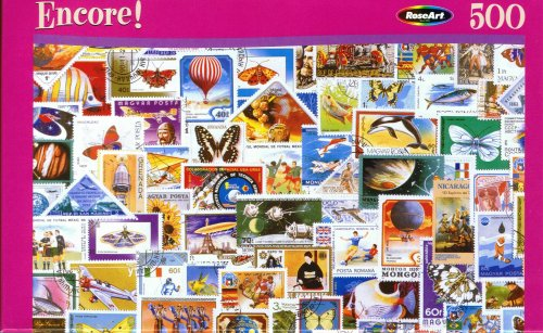 Encore 500pc. Puzzle-Stamp Collection