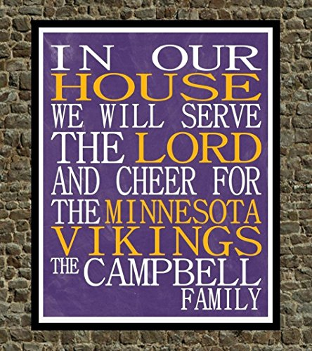 best loved 27966 57b41 In Our House We Will Serve The Lord And Cheer for The ...