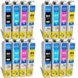 Compatible Epson Expression XP-322 Ink Cartridges 4X Black 4X Cyan 4X Magenta 4X Yellow (16-Pack)