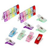 liyhh 20/50/100Pcs New Holding Wonder Clips Easy to Use for Crafts Sewing Knitting Crochet Mixed 20pcs (Color: Mixed, Tamaño: 20pcs)