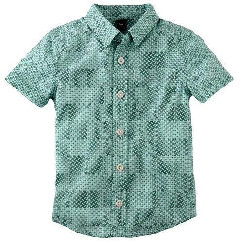 Tea Collection Boys Tile Print Shirt - Milk Size: 6