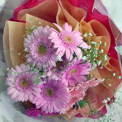 959【お祝い 誕生日 ギフト】【花束】ガーベラ15本花束・ピンク系
