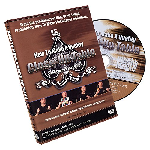 Murphy's Magic How to Make a Close Up Table by James L. Clark DVD