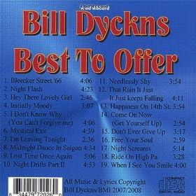 Bill Dyckns - Best to Offer