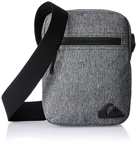 Borsa a tracolla da uomo Quiksilver Magic Small Shoulder Bag, Light Grey Heather, 21 x 15,5 x 5 cm, 2,5 litri, EQYBA03018-SGRH