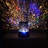 Eonkoo Colorful Twilight Romantic Sky Star Master Projector Lamp Starry LED Night Light Kids Bedroom Bed Light for Christmas Light Home Decoration