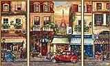 Schipper 609260626 - Malen nach Zahlen - Paris Nostalgie (Triptychon), 50x80 cm