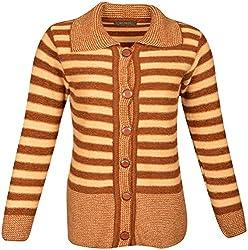 SAMESH Women's Shawl Collar Cardigan (Brown)