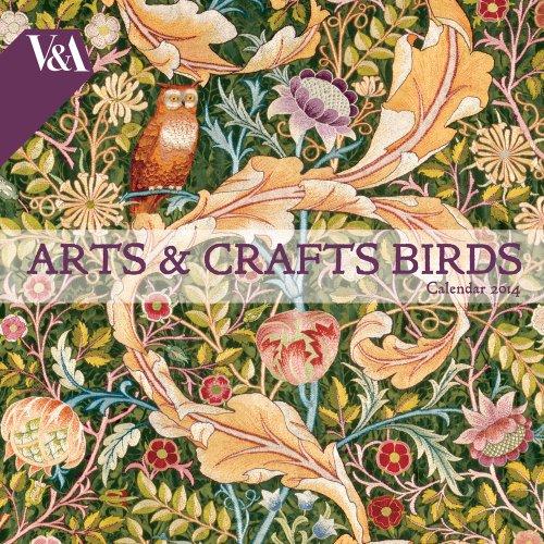 V&A Arts & Crafts Birds Wall Calendar 2014