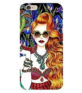 PrintVisa Fashion Snake Girl Dress Design 3D Hard Polycarbonate Designer Back Case Cover for Apple iPhone 6 Plus