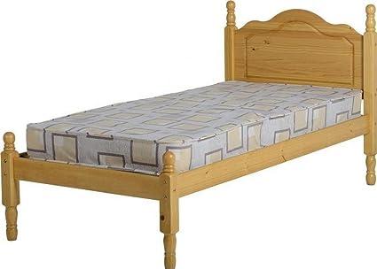 Sol 3de cama bajo pie final de madera de pino envejecido