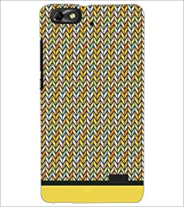 PrintDhaba Zig Zag Pattern D-1695 Back Case Cover for HUAWEI HONOR 4C (Multi-Coloured)