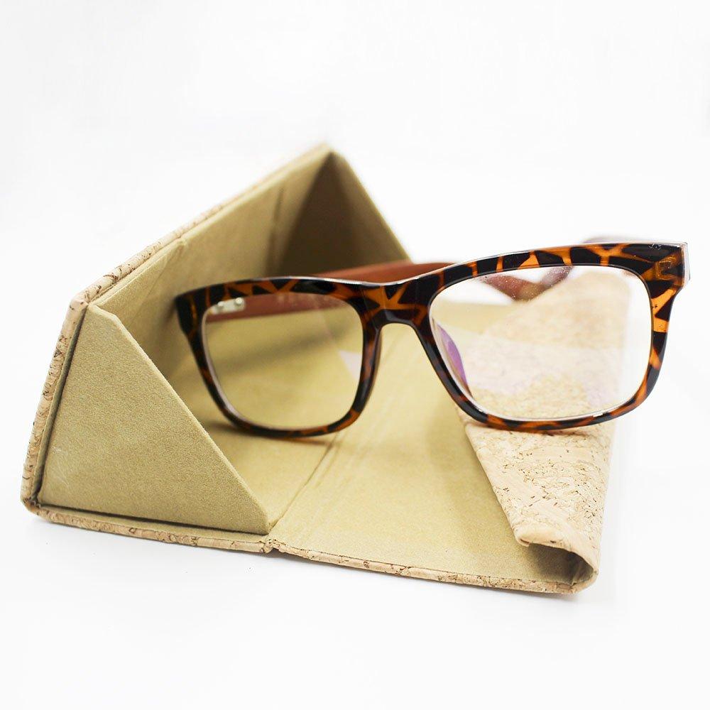 Eyeglasses Case, ASAPS Vintage Foldable Eyeglasses Case (Wood Sawdust) 4
