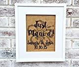 Hawaii wedding, destination wedding, Just Maui'd,burlap sign,personalized names date