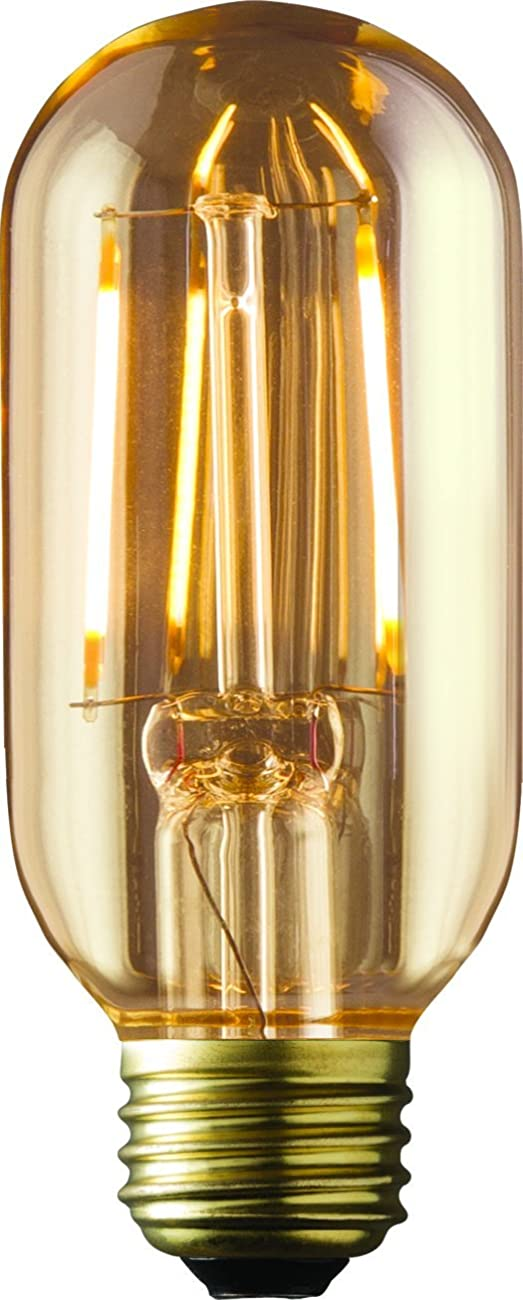ARCHIPELAGO Dimmable LED Filament Vintage Radio T14 (RD14) Light Bulb, 2 Watt, Medium Standard Base (E26), 2200K (Amber Glow), Omnidirection, UL Listed 0