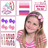 40 PIECE HAIR ACCESSORIES GIFT SET FOR GIRLS: Colourful Headbands, Hair Clips, Hair Bands, Ribbon Bows, Slides, Barrettes - Makes A Great Gift For Girls - Why Pay So Much On The High Street?
