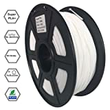 Superfila PLA 3D Printer Filament for Ender 3/Ender 3 Pro, Dimensional Accuracy +/- 0.03 mm, 1 kg Spool, 1.75 mm, White (Color: White, Tamaño: 1.75mm)