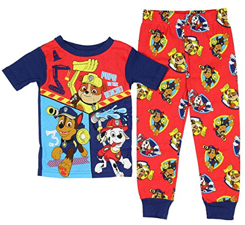 Paw Patrol Little Boys' Toddler Short Sleeve Cotton Pajama Set (2T)