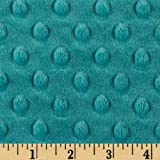 Minky Cuddle Dimple Dot Teal Fabric