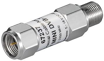 1aTTack coaxial//SAT câble de raccordement connecteur F à prise coaxiale, 5m bl