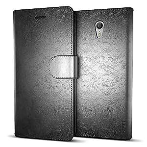 MTT® Premium Leather Flip Wallet Case with Card Slot for Lenovo Zuk Z1 (Black)
