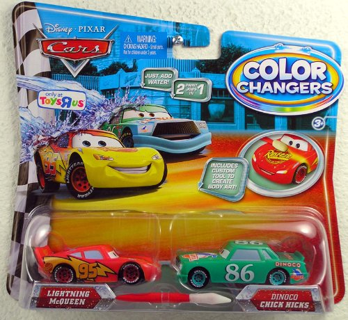 Disney / Pixar CARS Movie 155 Color Changers 2Pack Lightning McQueen Dinoco Chick Hicks (Cars Dinoco Lighting Mcqueen compare prices)