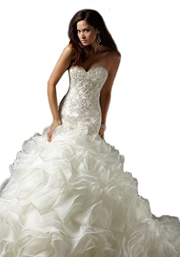 Dlass Mermaid Crystal Wedding Dresses 2013 (US16, White)