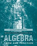img - for Algebra, Instructor's Manual: Form and Function book / textbook / text book
