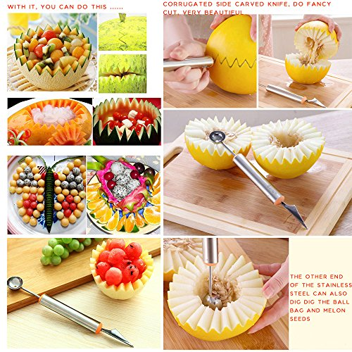 Mother s day gift prociv pcs melon baller fruit carving