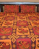 Famacart Double Bedsheets Kantha Lady Printed Decorative Bedsheets Pillow Covers