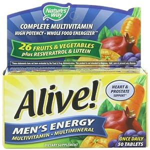 Alive Men's Energy Nature's Way 50 Tabs