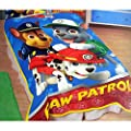 Nick Jr Paw Patrol All Paws on Deck Micro Raschel Blanket, 62 by 90-Inch by Franco Manufacturing