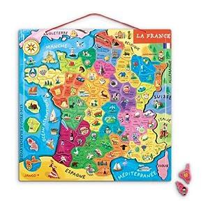 Janod - J05517 - Puzzle - France Magnétique