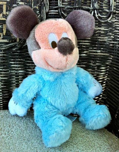 Disney Baby Mickey Mouse 8 Inch Plush Doll with Rattle Inside - 1