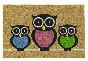 OWLS Kokos Fußmatte EULEN Fußabtreter Eule 40x60 cm