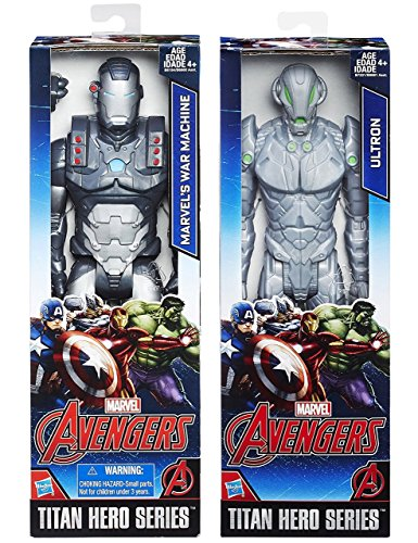 Marvel Titan Hero Series Avengers War Machine VS Ultron Action Figure Avengers Set Moveable Series