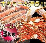 ズワイガニ 訳あり 3kg 食べ放題 ボイル ずわい蟹 足