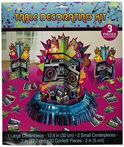 Amscan Table Decorating Kit Centerpiece, That's Totally Awesome 80's.
