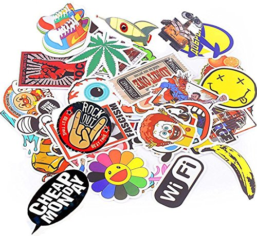 Xpassion Car Stickers Decals Pack 100 Pieces Bumper Stickers Random Patterns (Macbook Sticker Cool compare prices)