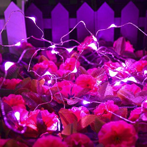CrazyFire Kupferdraht Lichterketten,Pink 3m 30 LED Batterie ...