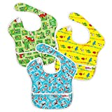 Bumkins 3 Pack Waterproof SuperBib ,Green Eggs/ Yellow Fish/ Cat in the Hat